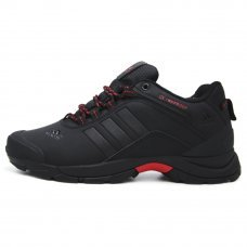 Зимние Adidas Terrex Climaproof Low Black/Red With Fur