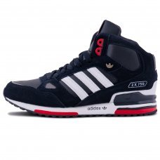 Зимние Adidas ZX 750 Blue/White/Red With Fur