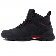 Фотография 1 Зимние Adidas Terrex Climaproof High Black Red With Fur