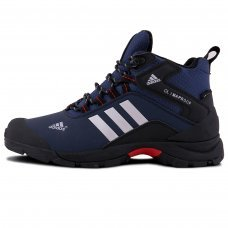 Фотография 1 Зимние Adidas Terrex Climaproof High Blue Black With Fur