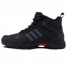 Зимние Adidas Terrex Climaproof High Black/Silver With Fur