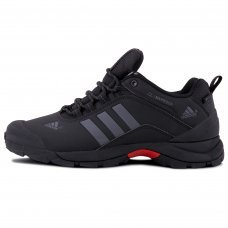Зимние Adidas Terrex Climaproof Low Black/Silver With Fur